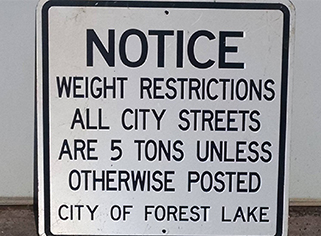Spring Load Restrictions